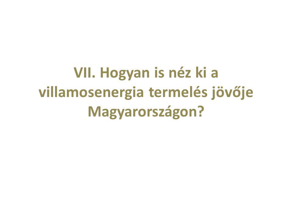 VII. Hogyan is néz ki a villamosenergia termelés jövője Magyarországon?