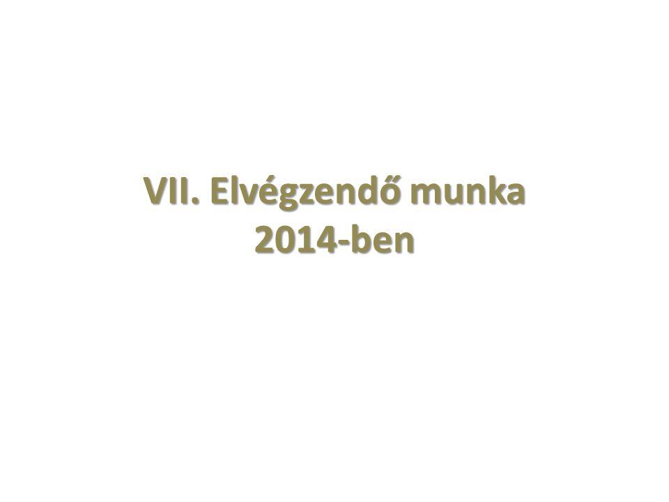 VII. Elvégzendő munka 2014-ben