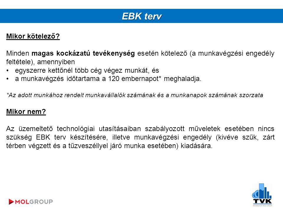 EBK terv Mikor kötelező.