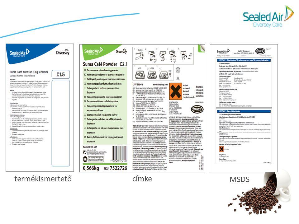 MSDS termékismertető címke