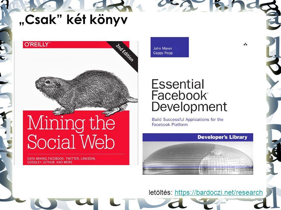 """letöltés: https://bardoczi.net/researchhttps://bardoczi.net/research """"Csak"""" két könyv"""