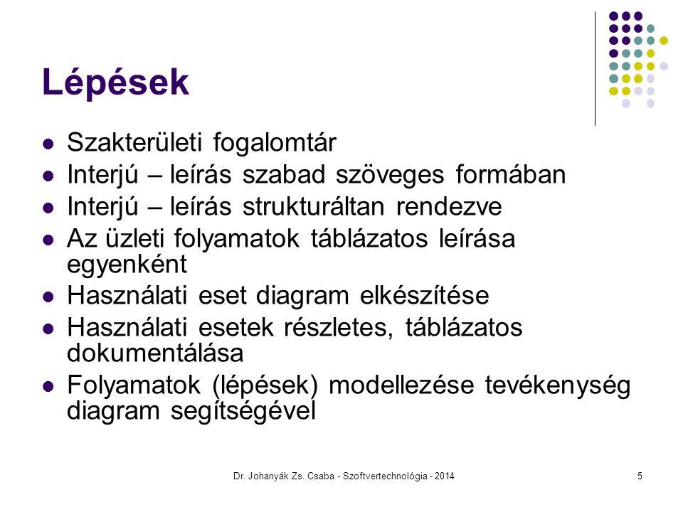 Állapot Dr. Johanyák Zs. Csaba - Szoftvertechnológia - 201426