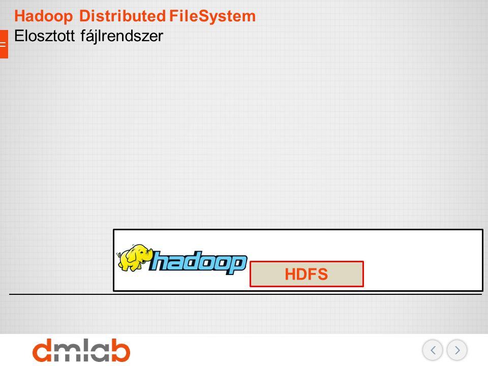 Hadoop Distributed FileSystem Elosztott fájlrendszer HDFS