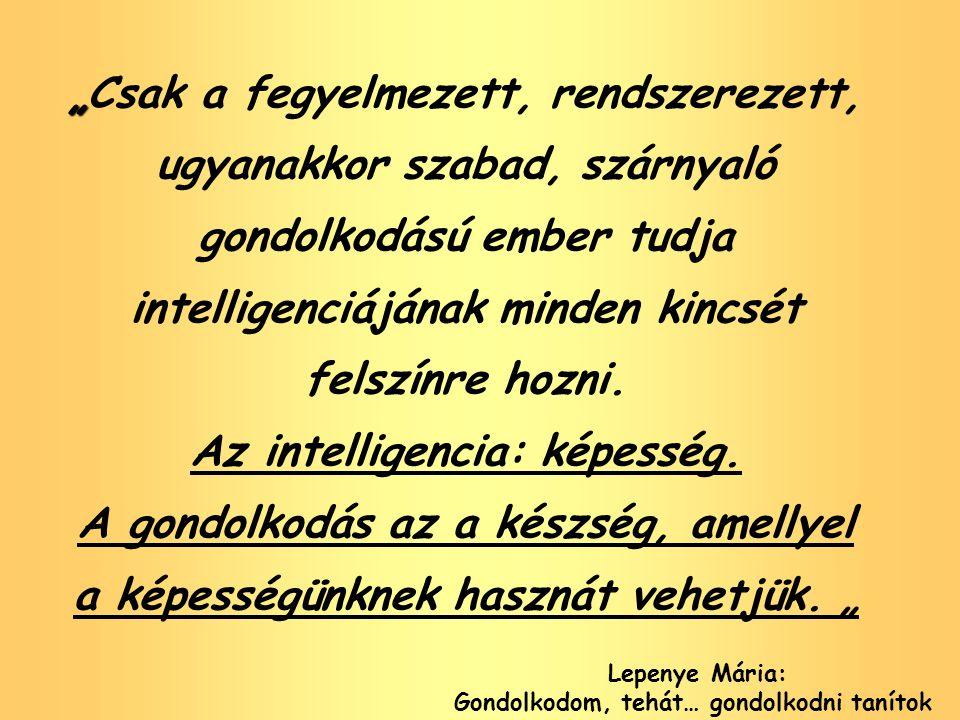 """"""" """"Csak a fegyelmezett, rendszerezett, ugyanakkor szabad, szárnyaló gondolkodású ember tudja intelligenciájának minden kincsét felszínre hozni. Az int"""