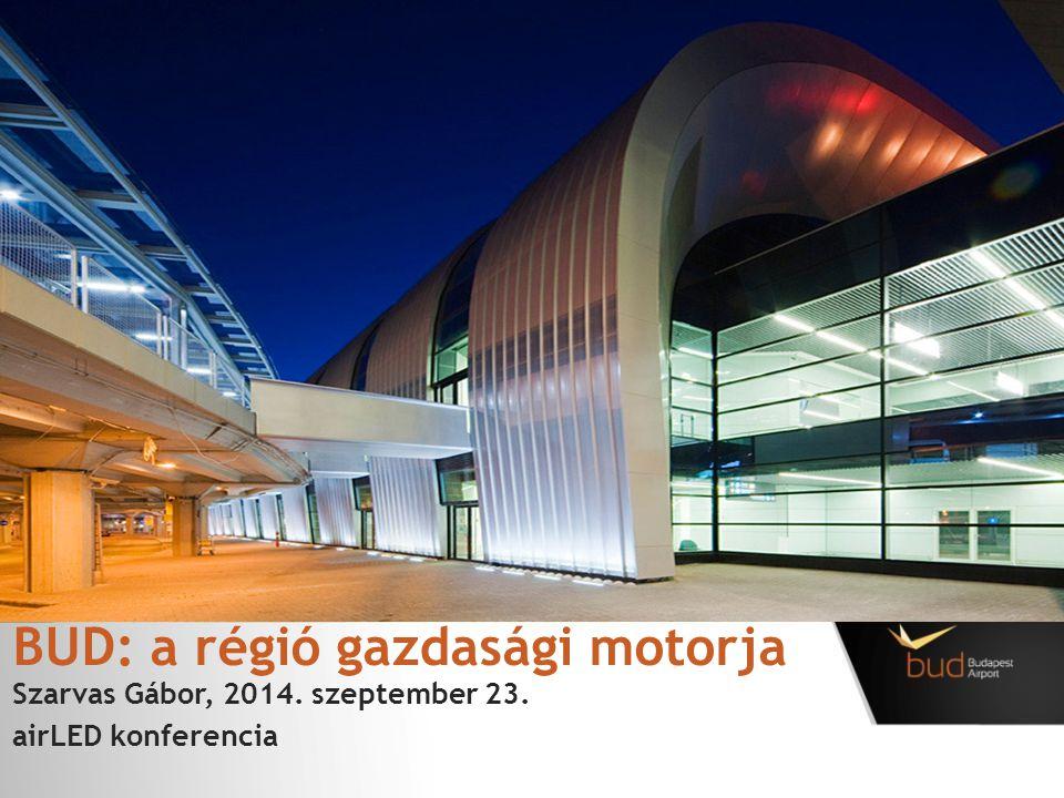 BUD: a régió gazdasági motorja Szarvas Gábor, 2014. szeptember 23. airLED konferencia