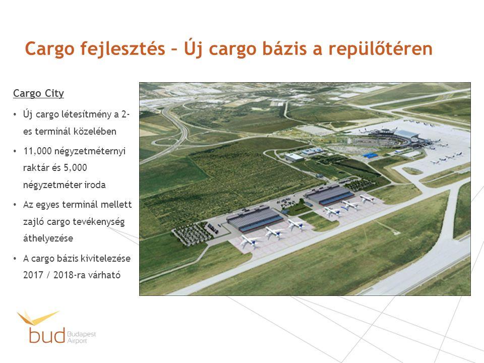 Cargo fejlesztés – Új cargo bázis a repülőtéren Cargo City Új cargo létesítmény a 2- es terminál közelében 11,000 négyzetméternyi raktár és 5,000 négy