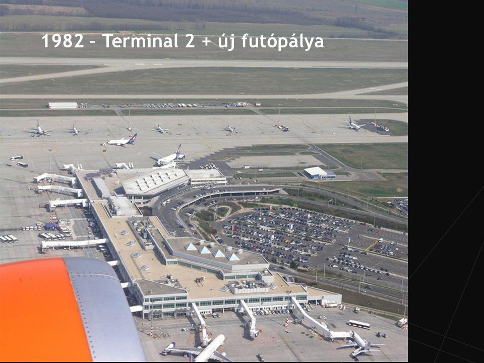 Két futópálya és gurulóút rendszer – optimális kialakítás Két független futópálya, 3 010 m and 3 707 m Futópálya elméleti kapacitás 52 ATM/h, jelenleg: 24/h Terminal 2 General Aviation Cargo Handling Karbantartó hangárok 5
