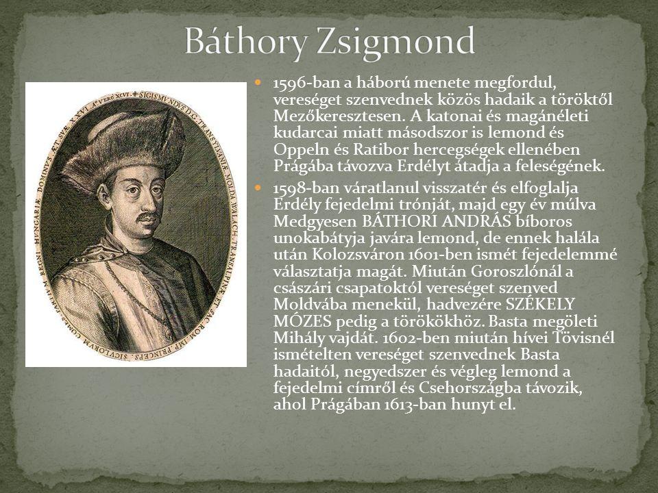 1596-ban a háború menete megfordul, vereséget szenvednek közös hadaik a töröktől Mezőkeresztesen.