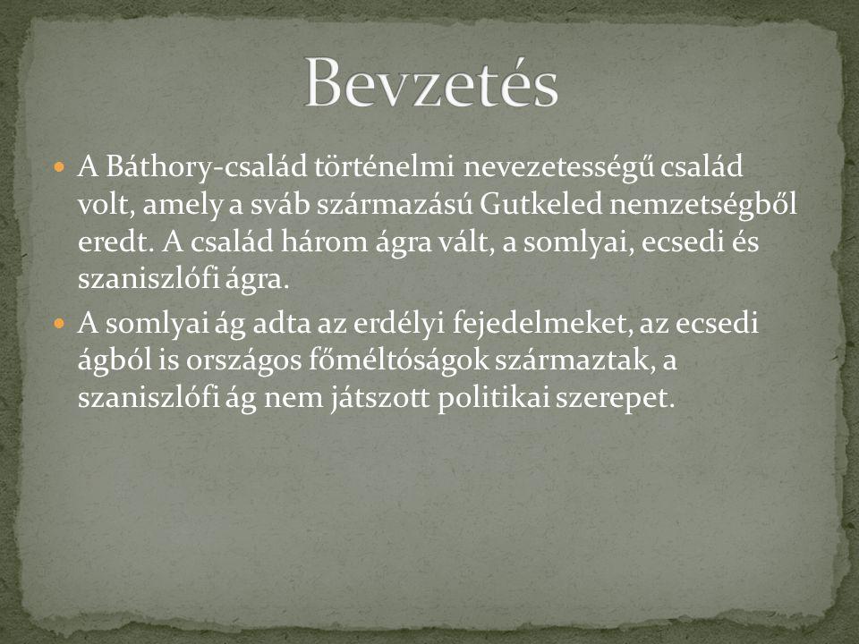 A Báthory-család történelmi nevezetességű család volt, amely a sváb származású Gutkeled nemzetségből eredt.