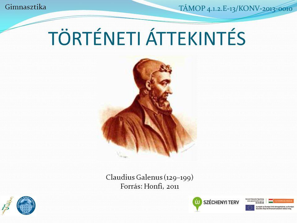 TÖRTÉNETI ÁTTEKINTÉS Claudius Galenus (129–199) Forrás: Honfi, 2011 Gimnasztika