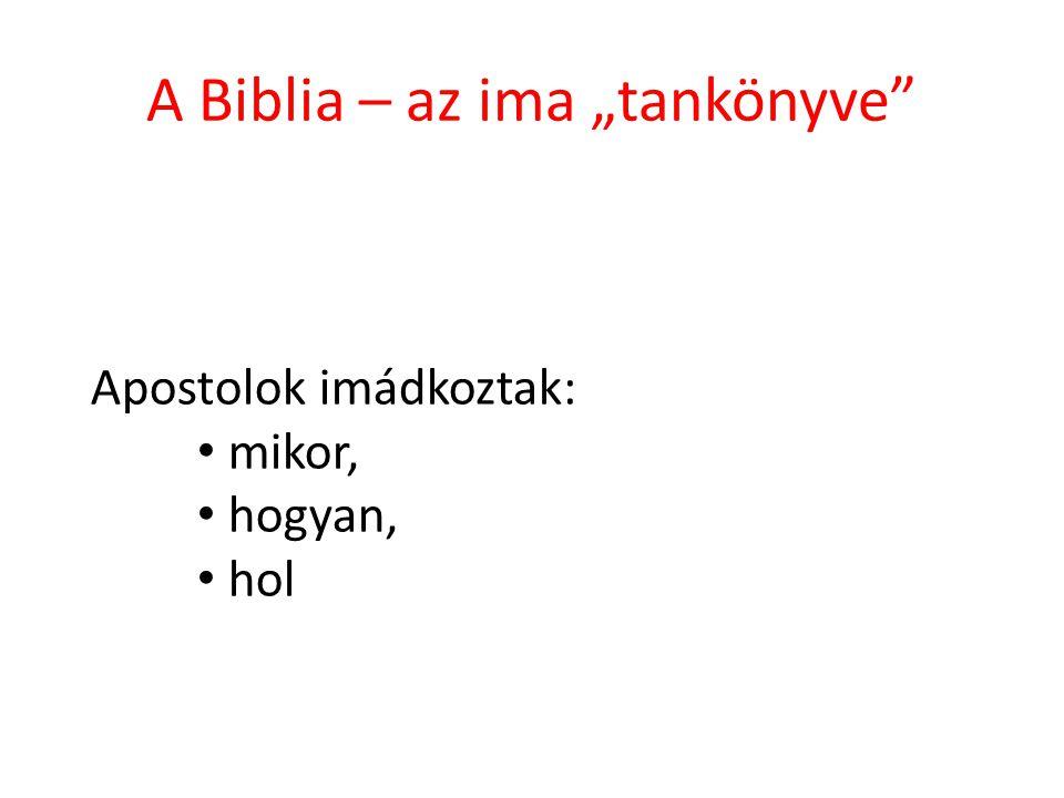 """A Biblia – az ima """"tankönyve"""" Apostolok imádkoztak: mikor, hogyan, hol"""