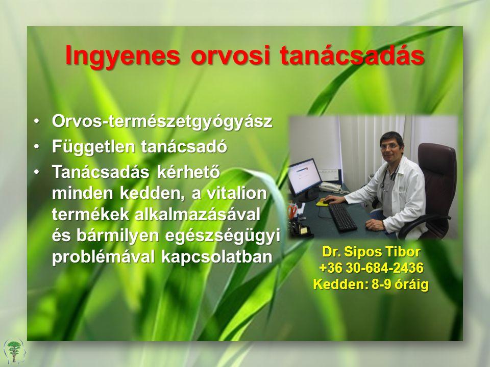 Ingyenes orvosi tanácsadás Orvos-természetgyógyászOrvos-természetgyógyász Független tanácsadóFüggetlen tanácsadó Tanácsadás kérhető minden kedden, a v