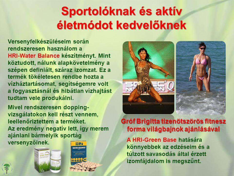 Sportolóknak és aktív életmódot kedvelőknek Gróf Brigitta tizenötszörös fitnesz forma világbajnok ajánlásával Versenyfelkészüléseim során rendszeresen