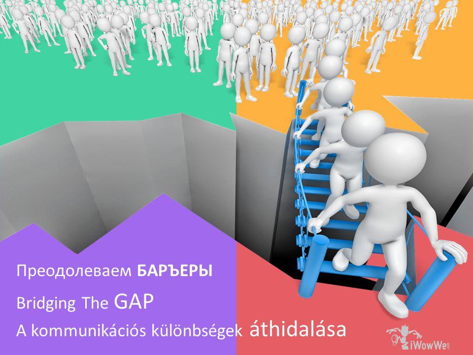 Bridging The GAP Преодолеваем БАРЪЕРЫ A kommunikációs különbségek áthidalása