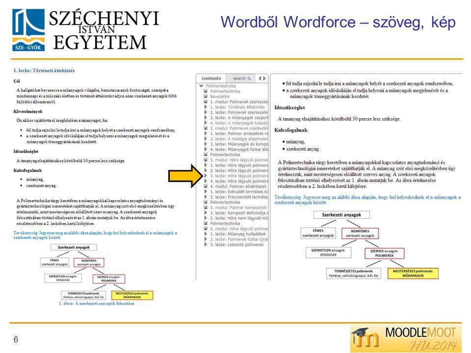6 Wordből Wordforce – szöveg, kép