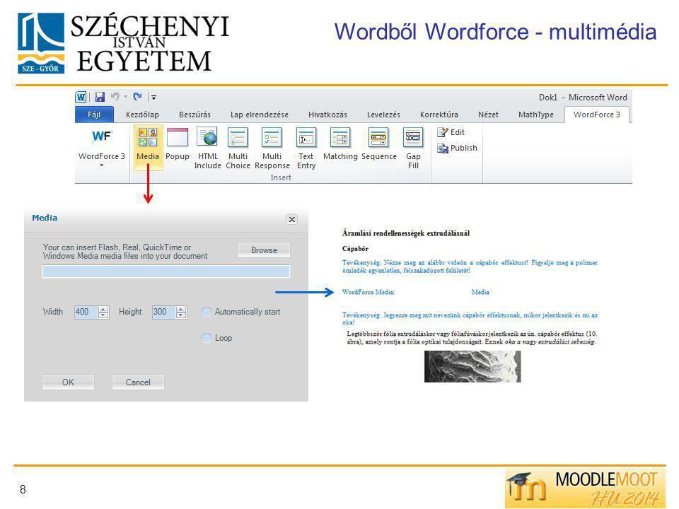 8 Wordből Wordforce - multimédia