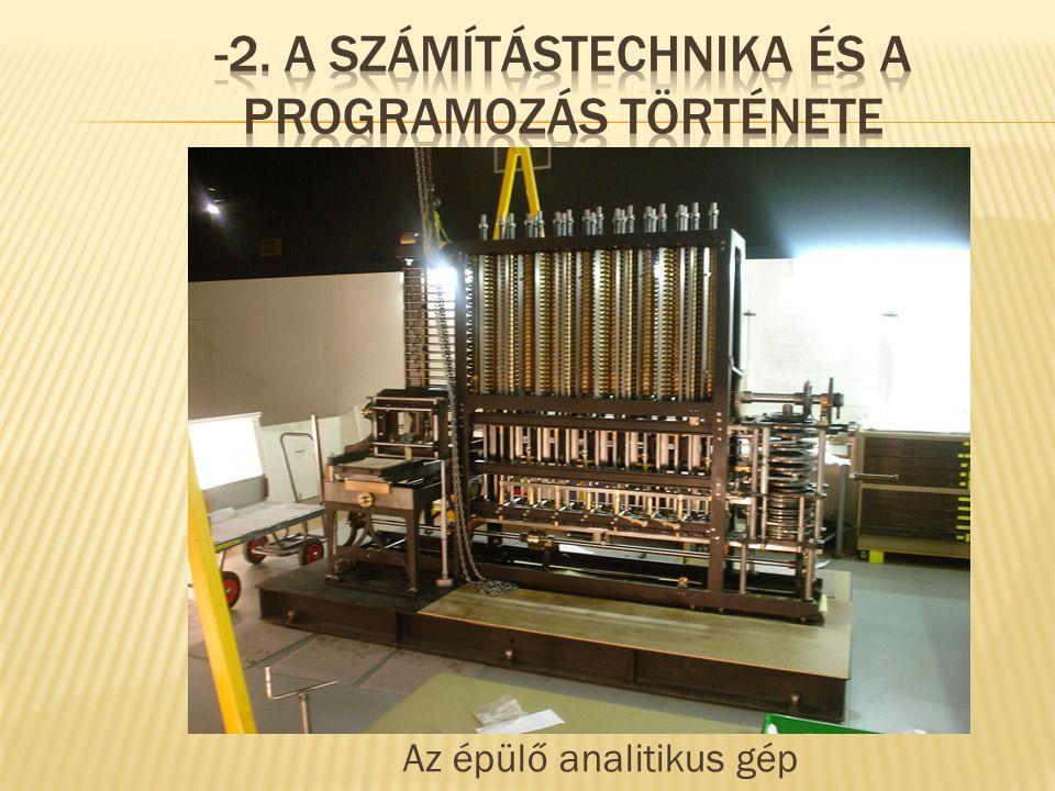 Az épülő analitikus gép