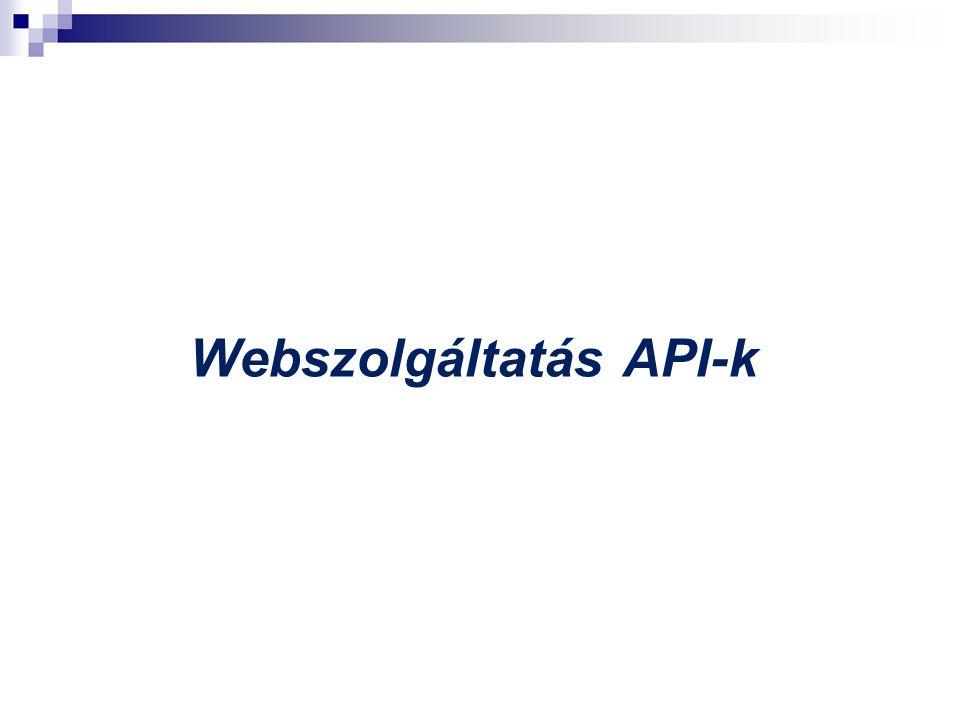 Webszolgáltatás API-k