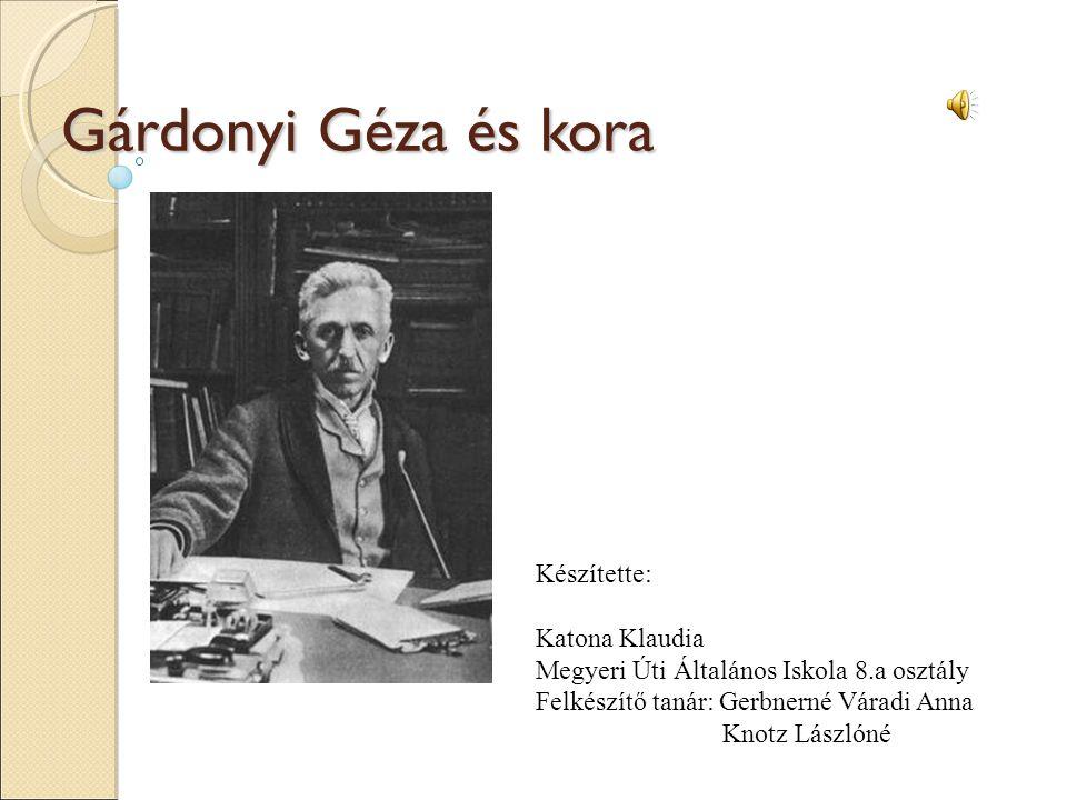 Ki is volt ő.Gárdonyi Géza (eredetileg Ziegler Géza) született: 1863.