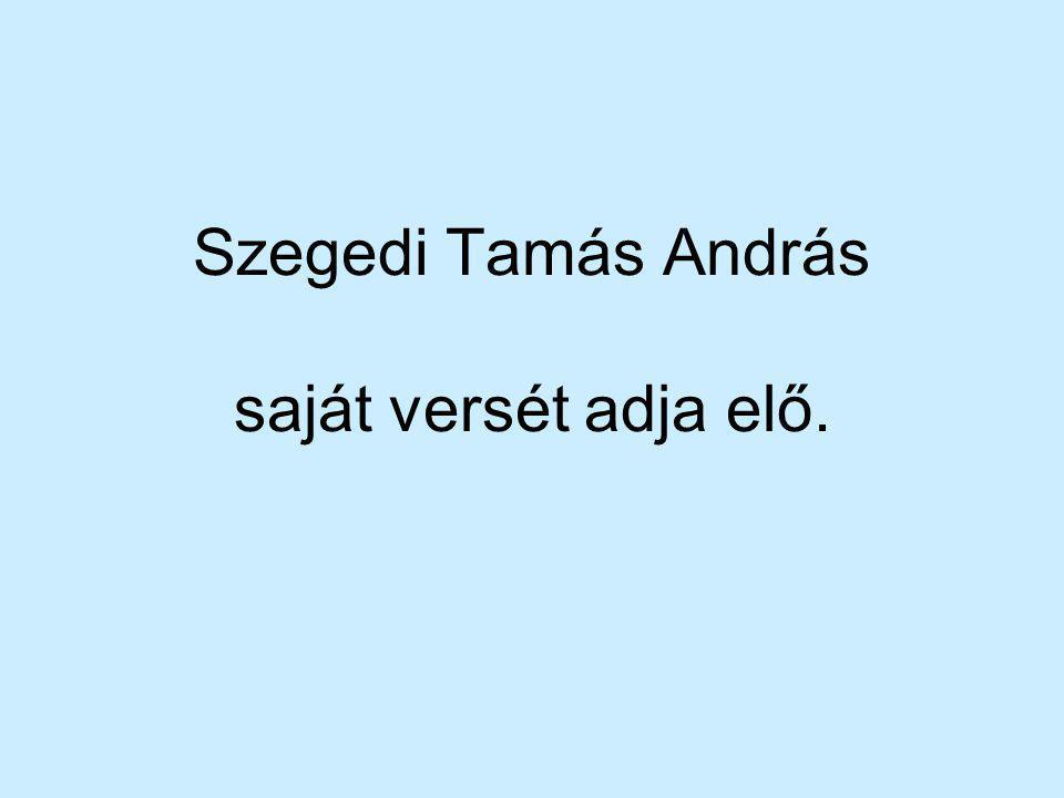 Szegedi Tamás András saját versét adja elő.