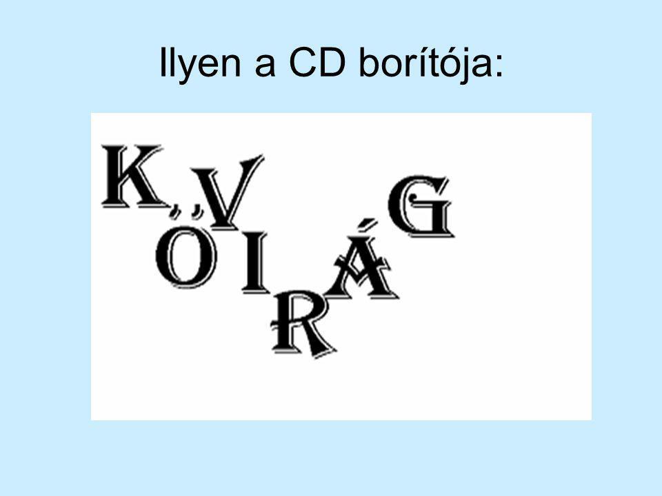 Ilyen a CD borítója: