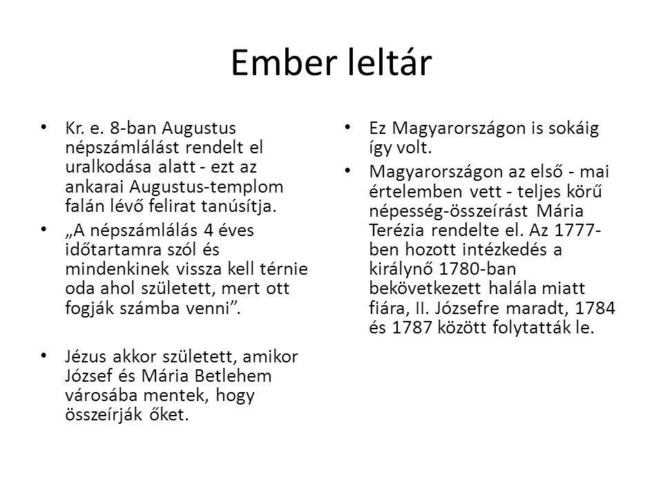 """Ember leltár Kr. e. 8-ban Augustus népszámlálást rendelt el uralkodása alatt - ezt az ankarai Augustus-templom falán lévő felirat tanúsítja. """"A népszá"""