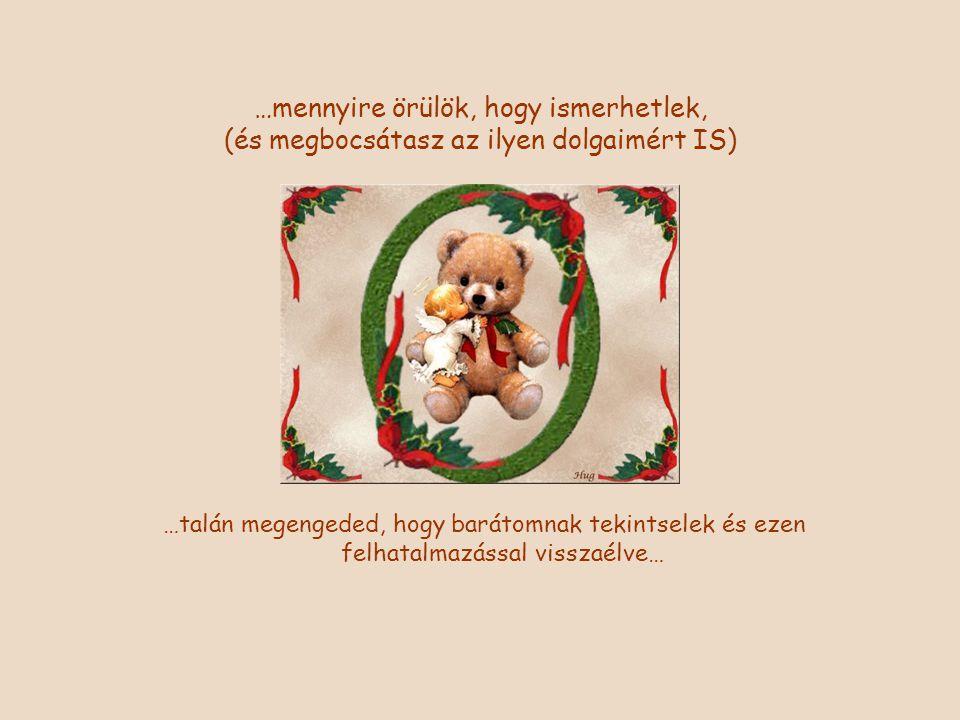 Kellemes és boldog, szeretet teljes, áldott és békés Karácsonyi Ünnepeket kívánjak Neked!