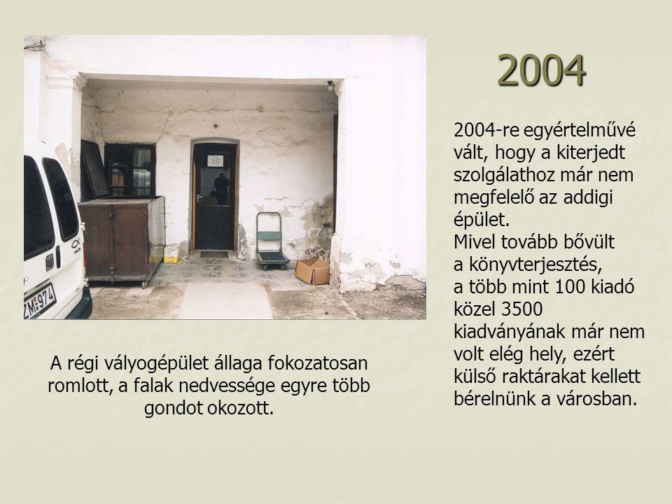 2004 2004-re egyértelművé vált, hogy a kiterjedt szolgálathoz már nem megfelelő az addigi épület.