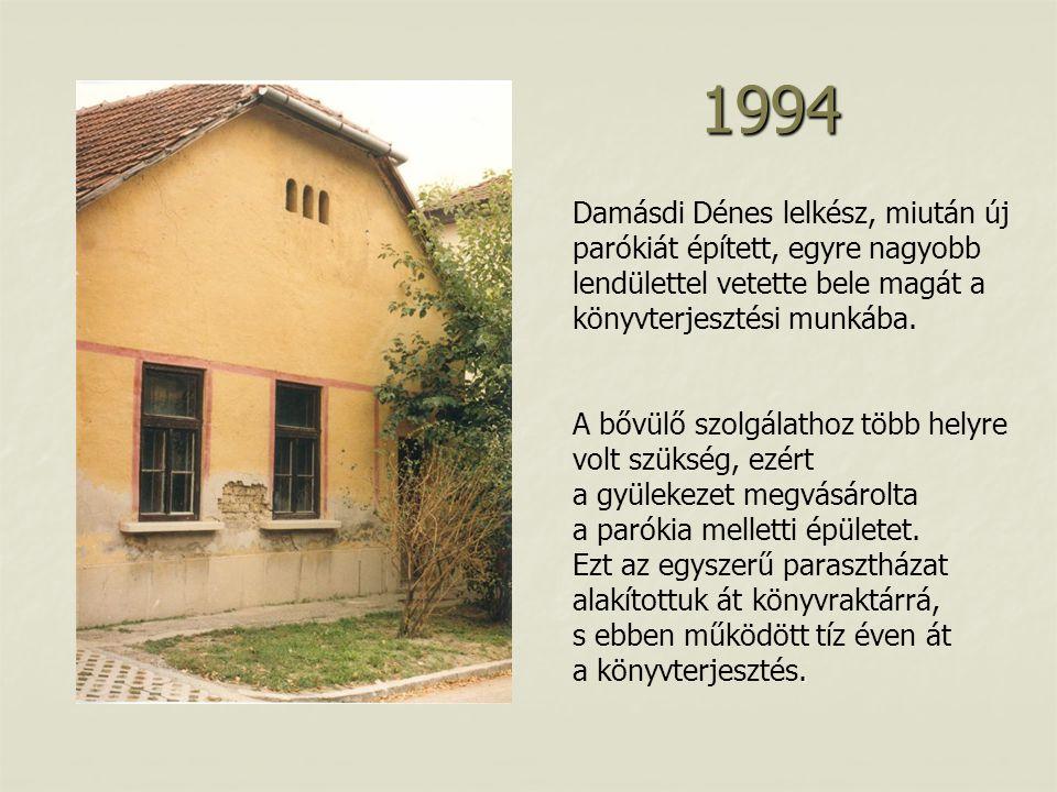 Damásdi Dénes lelkész, miután új parókiát épített, egyre nagyobb lendülettel vetette bele magát a könyvterjesztési munkába..