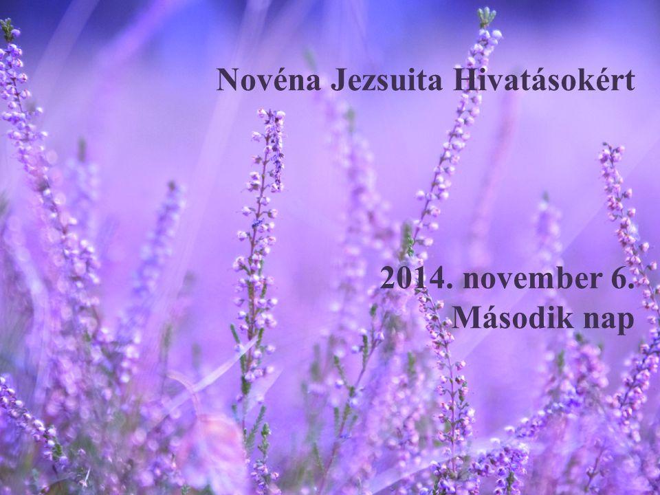 Novéna Jezsuita Hivatásokért 2014. november 6. Második nap