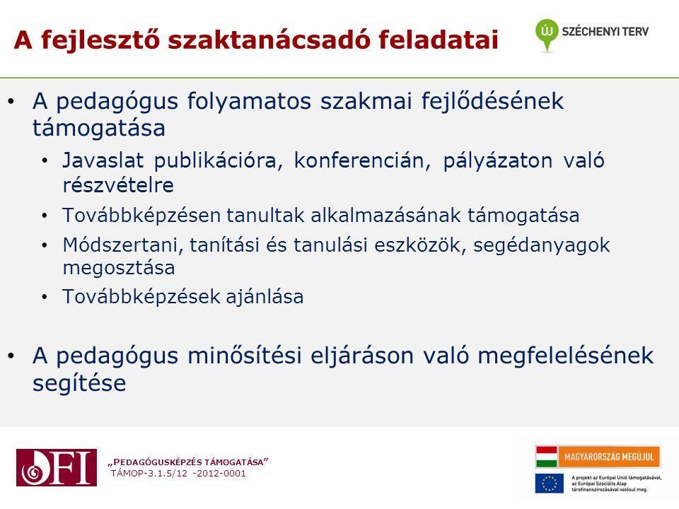 """""""P EDAGÓGUSKÉPZÉS TÁMOGATÁSA """" TÁMOP-3.1.5/12 -2012-0001 A pedagógus folyamatos szakmai fejlődésének támogatása Javaslat publikációra, konferencián, p"""