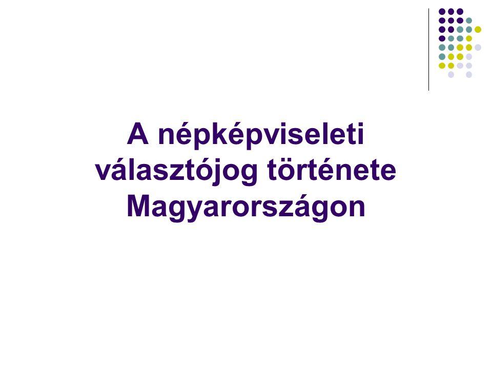 A népképviseleti választójog története Magyarországon
