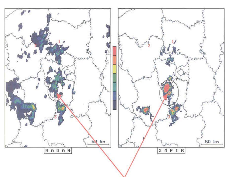 Nowcasting célú felhasználás- esettanulmány (radar+SAFIR 2003.08.30 0215- 02.30 között.)