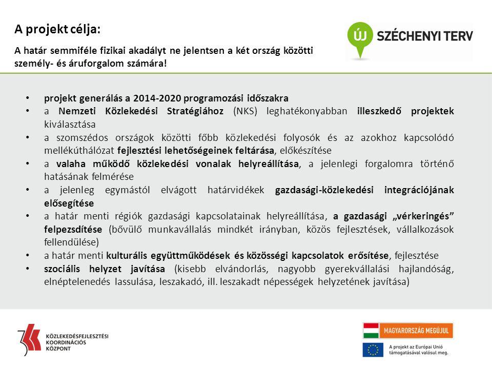 projekt generálás a 2014-2020 programozási időszakra a Nemzeti Közlekedési Stratégiához (NKS) leghatékonyabban illeszkedő projektek kiválasztása a szo