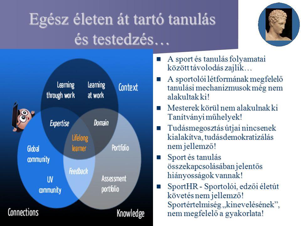 Egész életen át tartó tanulás és testedzés… A sport és tanulás folyamatai között távolodás zajlik… A sport és tanulás folyamatai között távolodás zajl