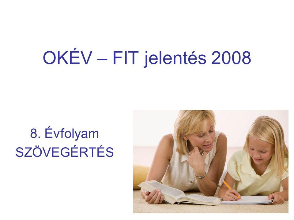 OKÉV – FIT jelentés 2008 8. Évfolyam SZÖVEGÉRTÉS
