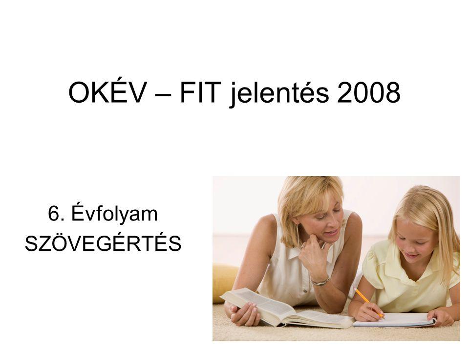 OKÉV – FIT jelentés 2008 6. Évfolyam SZÖVEGÉRTÉS