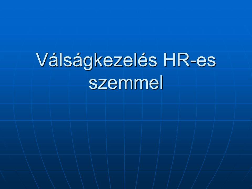 Válságkezelés HR-es szemmel