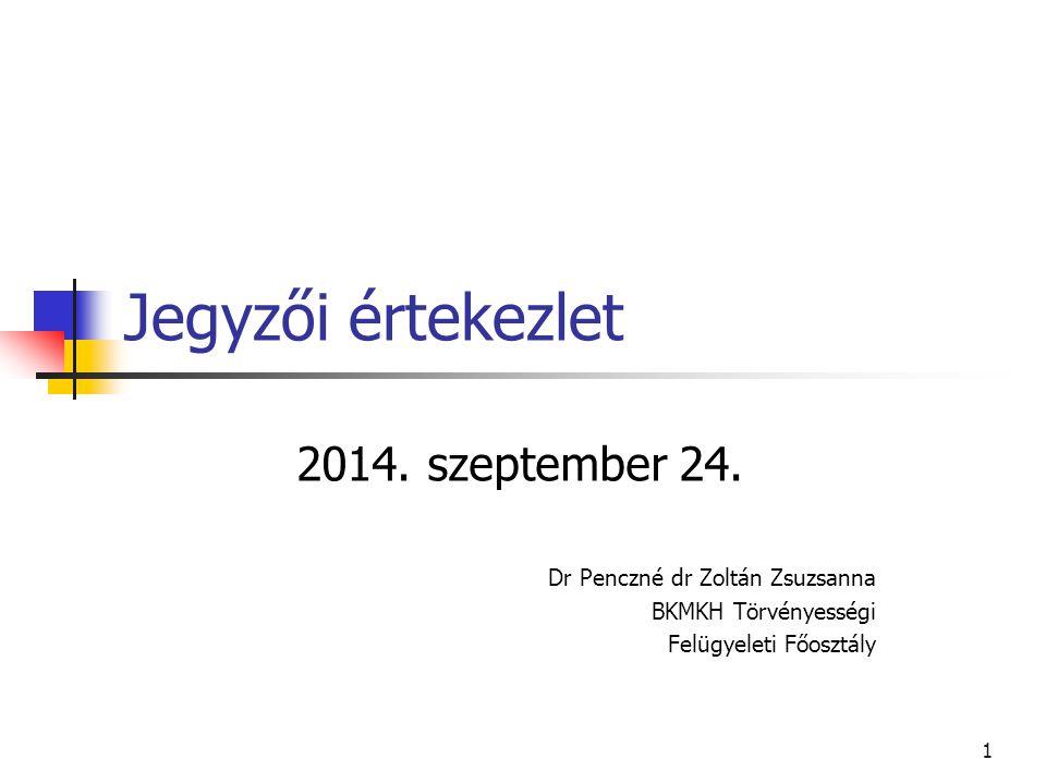 Jegyzői értekezlet 2014.szeptember 24.