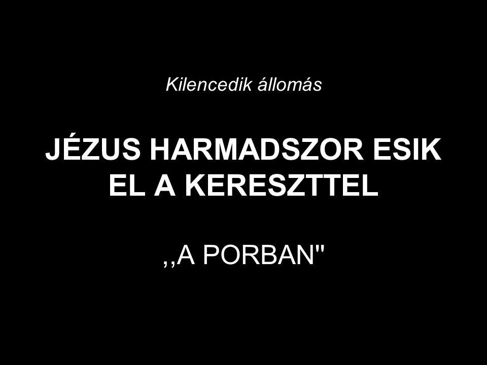 Kilencedik állomás JÉZUS HARMADSZOR ESIK EL A KERESZTTEL,,A PORBAN