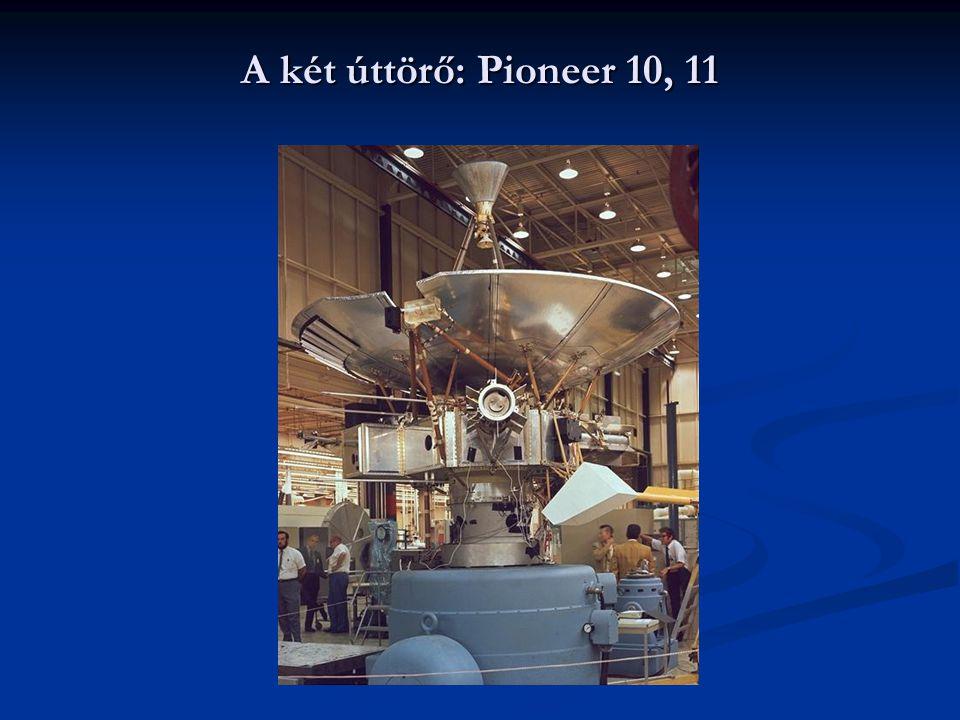 A két úttörő: Pioneer 10, 11