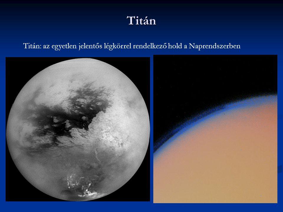 Titán Titán: az egyetlen jelentős légkörrel rendelkező hold a Naprendszerben