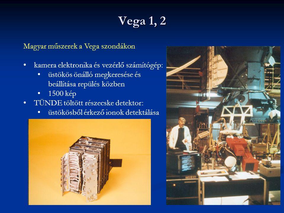 Vega 1, 2 Magyar műszerek a Vega szondákon kamera elektronika és vezérlő számítógép: üstökös önálló megkeresése és beállítása repülés közben 1500 kép