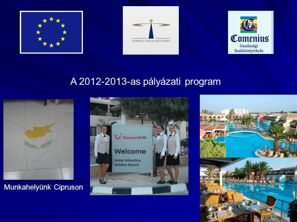 A 2012-2013-as pályázati program Munkahelyünk Cipruson