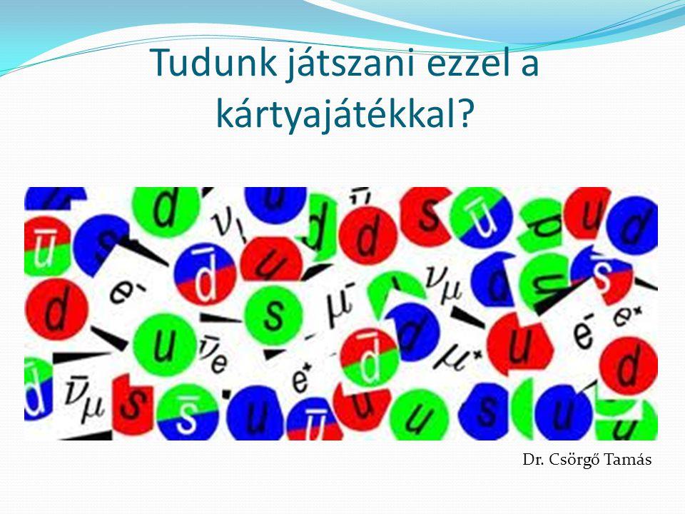 A hadronok másik csoportja: a mezonok, amik egy kvarkból és egy antikvarkból állnak (és ne feledjük: szín és antiszínből)