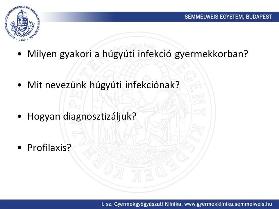 Milyen gyakori a húgyúti infekció gyermekkorban? Mit nevezünk húgyúti infekciónak? Hogyan diagnosztizáljuk? Profilaxis?
