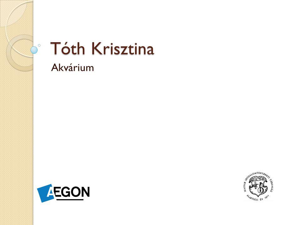 A regényről TÓTH Krisztina Akvárium című műve (Magvető, 2013) a szerző első regénye.