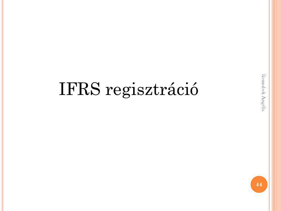 IFRS regisztráció 44 Rezsabek Angéla