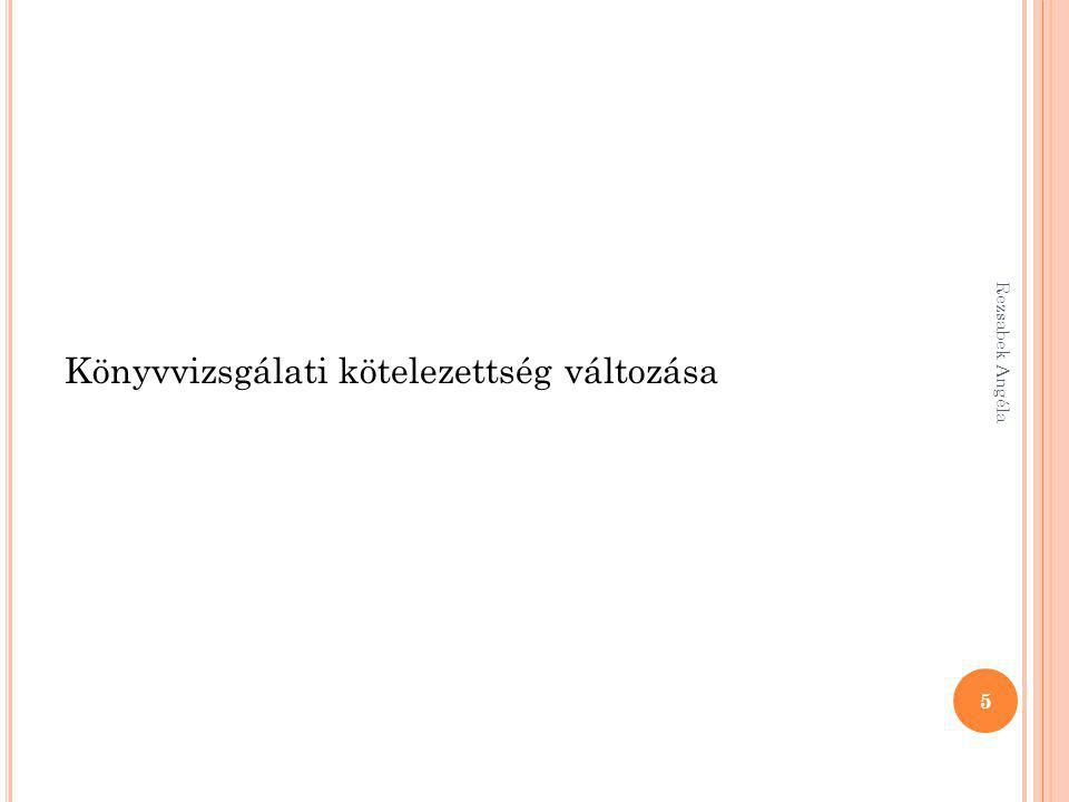 Rezsabek Angéla 156 A következő beszámoló elfogadásakor az osztalékelőleg nem válik osztalékká 38Pénzeszköz3….
