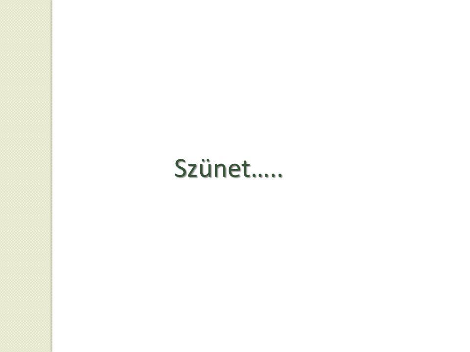 Szünet…..